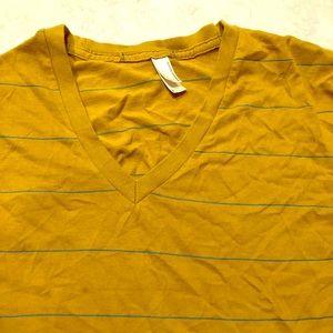 AA mustard V neck